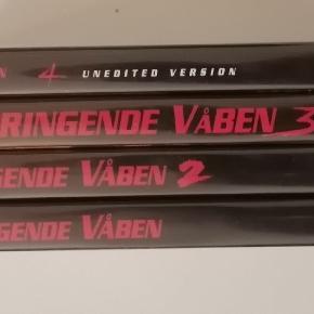Dødbringende våben 1 2 3 4 Dansk tekst Sælges samlet