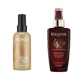Kérastase hårolie - Aura Botanica Essence D'Eclat 100 ml. - halvdelen tilbage)  Redken All Soft Argan-6 Oil – halvdelen tilbage  Samlet 100 kr