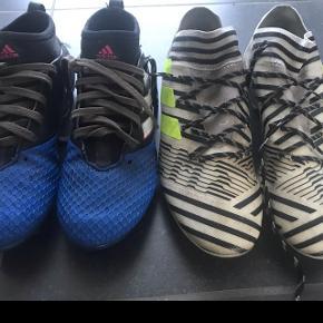 Adidas fodboldstøvler str. 38 og str. 39 1/3. Bruges til både kunst og græs. Afhentes i 6715.