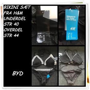 Bikini sæt fra h&m underdel str 40 overdel str 44 nyt byd