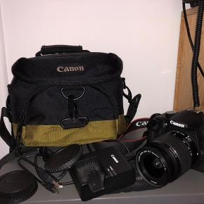 Sælger dette kamera i helt perfekt stand, ingen ridser eller skrammer overhovedet! Der følger alt med + kamera taske! Det tager virkelig gode, skabe billeder og videoer-nemt at overføre til andre enheder😊