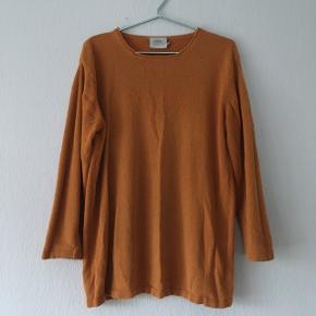 Orange sweater strik, str. M/38-40