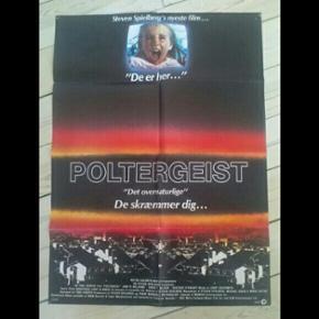 Original filmplakat Poltergeist 62 x 84 cm Har været foldet