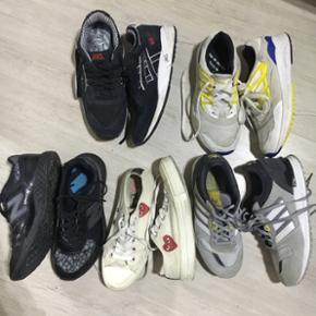 sælge lidt forskelligt sneakers, de fleste fitter 37-38, spørg for mere info CDG solgt nr 1 øverst fra venstre str 37,5 nr 2 str 36 2/3 nr 3 str 38,5 nr 4 str 37 (solgt) nr 5 37 1/3   tags: adidas, comme des garcons, cdg, new balance, asics