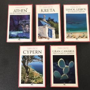 Rejsebøger Turen går til Kreta Turen går til Gran Canaria fuerteventura og lanzarote Turen går til Cypern Turen går til Samos og Lesbos  Turen går til Athen og det græske fastland Pris 20 kr. stykket