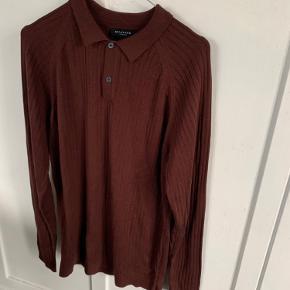 Smuk tynd strik med skjortekrave fra selected homme