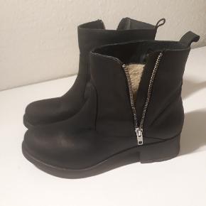 Ægte læder støvler - brugt 1 enkelt gang