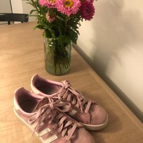 Sælger mine virkelig søde Adidas Campus i lyserøde, da jeg aldrig får dem brugt🌸 De fejler intet, men er dog en anelse snavsede. Jeg renser gerne skoene inden afsendelse, hvis køber ønsker det - alle bud er velkomne;))
