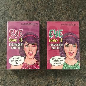 Misslyn øjenskygge palette 6 farver pr. pakke. Uåbnet. En pakke for kr. 125,- eller begge for kr. 200,-  6700/Rørkjær - bytter ikke