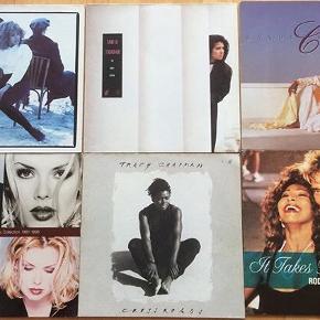 Diverse Lp'er, 20kr pr stk. Tina Turner, Tanita Tikaram, Kim Wilde og Randy Crawford. NB: Tracy Chapman er solgt