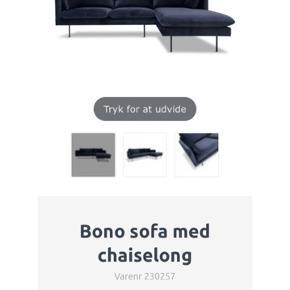 Sofaen er i mørkeblå velour og er i perfekt stand. Sælges pga. flytning.