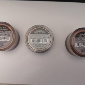 3 stk Bellapirre mineral blush alle 3 er nye og ubrugte