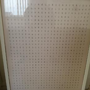 Flot plakat med ramme i bogstaverne er navne på danske design klassiske gemt