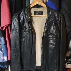 Retro skind- & læderjakke