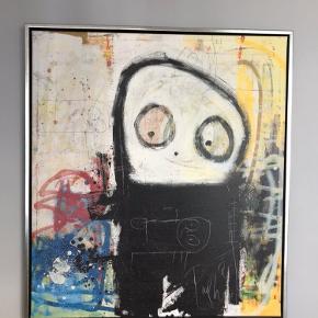 Paul Pava med svæveramme.  84cm x 94 cm  450kr