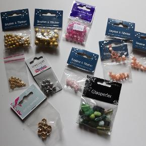 Blandede perler og smykkematerialer, sælges samlet for 40kr