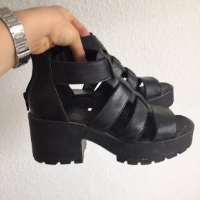 Sort vagabond sandaler med hæl