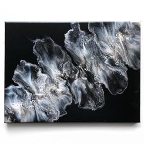 Originalt maleri med sølv og sort. Maleriet er 30x40cm.