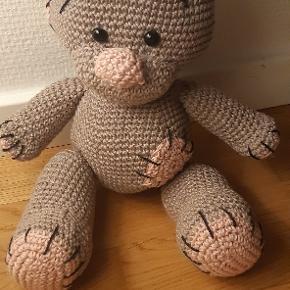 Ny hæklet Teddy Bjørn 31 cm høj