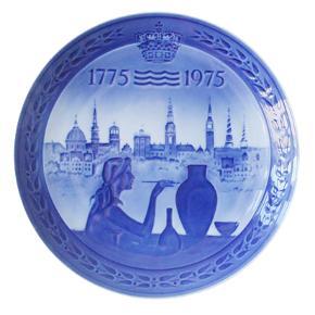 Jubilæumsplatte. Royal Copenhagen 200 år. Royal Copenhagen. Porto 37 kr