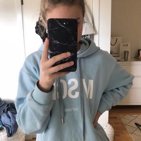 Moss Copenhagen hættetrøje i lyseblå