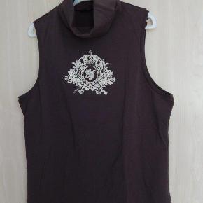 Airfield T-shirt 44 mørkebrun, ærmeløs, turtleneck, bom/elastane  brust 110 cm+ länge 65 cm