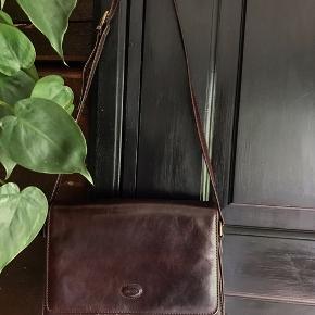 Brun vintage taske i læder