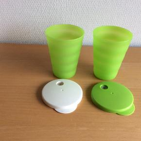 Avanti Glas med låg til sugerør