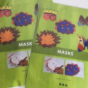 2 x 5 stk. lav-selv (fastelavns-) masker. Slip fantasien løs!