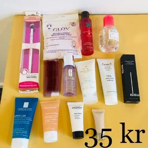 Fra Goodiebox, Lookfantastic Box og andet - sælges for 35 kr pr stk 😊  Doucce, Darphin, Bioderma, La Roche Posay, Emma S, Clarins, Rituals,