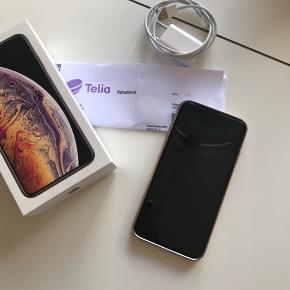 Iphone xs max 64 GB -guld. Incl cover.  Sælges da jeg vil tilbage til android. Fejler intet. Kvittering medfølger. Den er fra sidste i september '18