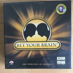 Bet your brain brætspil. Aldrig brugt, har stadig plastik på.