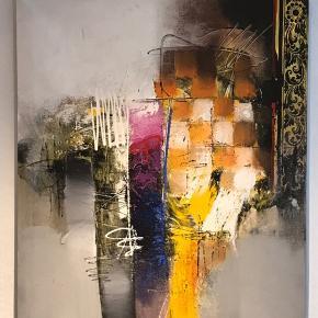 Stort flot abstrakt maleri Mål: 80cm x 100cm