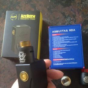 AzeRoth mecanical squonker with dead rabbit RDA and Aequitas RDA(both Hellvape) High quality squonker with good vape and VG and PG 500ml give me a bid