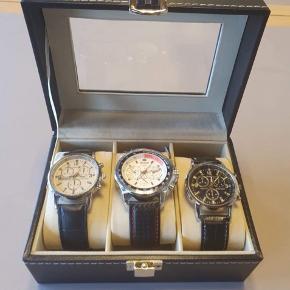 3 helt nye ure sælges samlet til 500kr