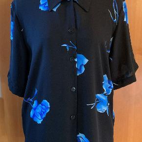 Lang Sort Chiffon skjorte, 4614