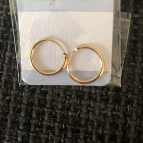 Helt nye guld hoops (mellem) 30 kr
