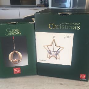 Golden Christmas Årsstager 2004 & 2007 som nye - original bånd stadig i posen og ikke været brugt. Pris pr stk