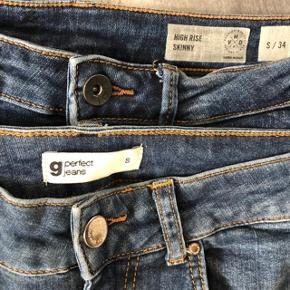 """* 2 x skønne """"nye """" jeans 😀 Begge brugt 2 gange 🌸  * Vero Moda str 24  * Gina Tricot str S ☀️🌸☀️🌸  Nypris for begge 600kr  Begge sælges for 125kr"""