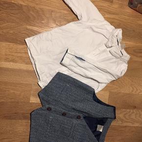 Fin skjorte og vest til den lille dreng. Røg og dyrefrit hjem. Sender ikke.