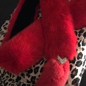 Smuk rød ræve pels stola