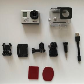 GoPro Hero3 for sale. Used only twice in total. Works and looks perfect, for sale simly due to no use. Goes with the accesories on the picture. Ask if any question.