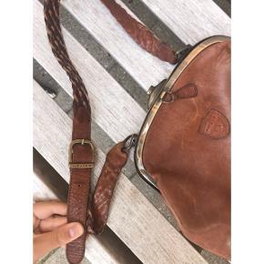Lækker vintage taske i læder