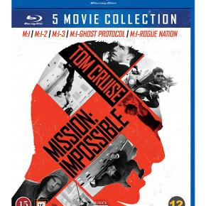 Mission impossible 1-5 blurayNypris 199 kr