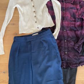 Pigetøj i str 10 Hvid bluse hm Blå Name it bukser Skjorte hm Sort rib hm  Jeggins hm Sort denim  Tshirt Gro Billabong leggings