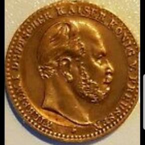 Flot mønt fra Tyskland. Wilhelm 1. National denkmal auf dem Kyffhauser. Giv venligst et bud.