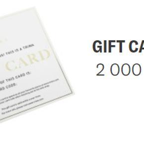Sælger et gavekort til Triwa på 2000 for 1300 kroner. Gavekortet virker til alt på Triwas hjemmeside inklusiv nedsatte varer.