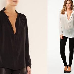 """2 skjorter i model """"Lancie"""" Creme og sort  De er begge gået i stykker på det ene ærme (se billeder) Ellers er de i fin stand  Samlet 250 kr"""