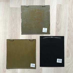3 stk. vintage skilte Måler ca: 25 x 25 cm