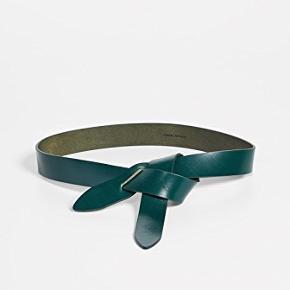 Isabel Marant Lecce ikonisk læder tie bælte i mørkegrøn, bæltet er aldrig brugt.  100% læder  Længde: 123 cm